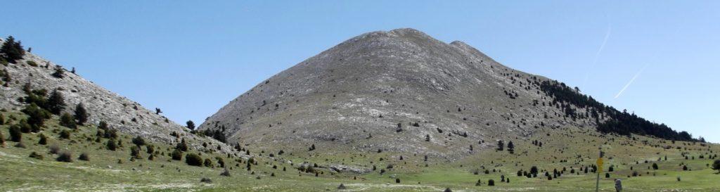 The summit of mount Parnonas