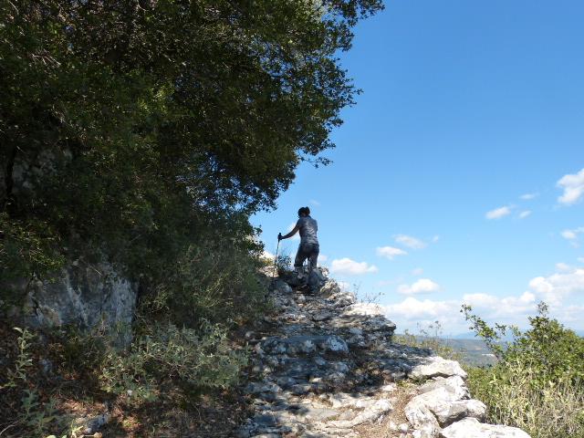 Loop trail at the foot of Taygetos